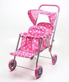 Another great find on #zulily! Wonderplay Pink Double Seat Doll Stroller #zulilyfinds