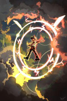 """The sky is angry"" Galaxy Movie, Anime Galaxy, Boboiboy Galaxy, Boboiboy Anime, Anime Art, Cartoon Movies, Cartoon Art, Doraemon Wallpapers, Naruto"