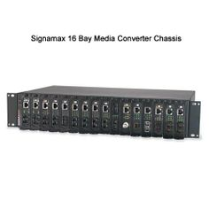 Signamax 16-Bay Rack Mount Media Converter Chassis- Accommodates Up To 16 Media Converters in a Standard 2U #Rack Space Enclosure. Made of durable aluminum  steel, with easy rear access for installation  maintenance. Learn more at CableOrganizer.com: