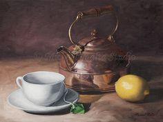 "Still Life, ""Tea Time"" 11x14 oil on canvas by Artist Michael Malta"
