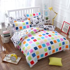 Summer style cotton bedding set Super soft twin Full Queen King Nordic style Comforter Duvet Cover bed sheet Pillowcase no quilt