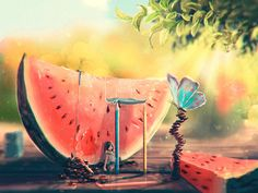 Watermelon by Sylar113.deviantart.com on @DeviantArt