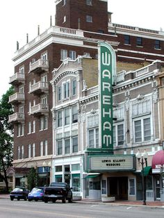 Wareham Theatre, Manhattan, KS. Harry's Uptown, a fabulous restaurant, is next door in the taller brick building, and my husband lived in the apartments above it when we met. <3