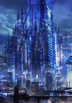 Mainly posting science fiction and fantasy stuff i find cool Cyberpunk City, Cyberpunk Kunst, Cyberpunk Aesthetic, Futuristic City, Futuristic Architecture, Fantasy City, Fantasy Places, Fantasy World, Sci Fi Stadt