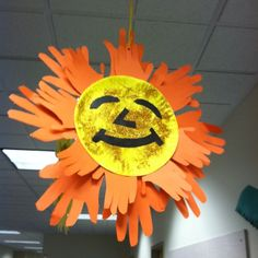 preschool creation crafts | Sun craft - Back to School Idea. Or creation week. | preschool ideas