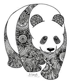 zentangle panda coloring book animal coloring pagescoloring bookscute