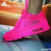 Foot Locker Schuhe Nike Air Max 90 Alle Pink Frauen