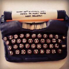Typewriter Cake (my dream birthday cake!)