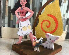 Fiesta de cumpleaños de Moana, Moana partido decoración, bandera de Moana, Moana invitación, partido de Moana, Moana Cupcake Toppers, Disney Moana cotillón por BrioParty