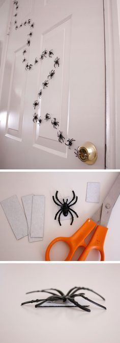 Halloween Magnetic Spiders | Click Pic for 20 DIY Halloween Decorations for Kids to Make | Cheap and Easy Halloween Decorations on a Budget