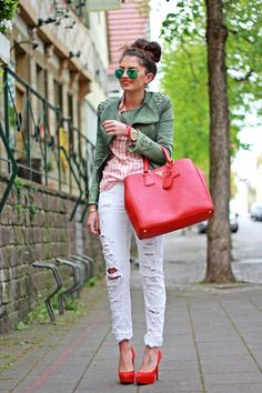 FashionHippieLoves: red and green