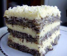 Przepis na ten tort znalazłam na forum Cook Talk , ale pozmieniałam po swojemu tak składniki jak i sposób wykonania Składniki Ciasto: * 4 całe jajka * 2 białka * 150 g cukru * 2 łyżki oleju * 3 łyżki (z małą górką) mąki * 80 g zmielonego maku (mieliłam w młynku do… Sweet Recipes, Cake Recipes, Dessert Recipes, Polish Desserts, Kolaci I Torte, Different Cakes, Christmas Baking, Clean Eating Snacks, Chocolate Recipes