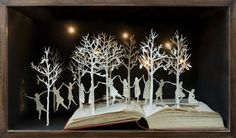 sculptures released from books