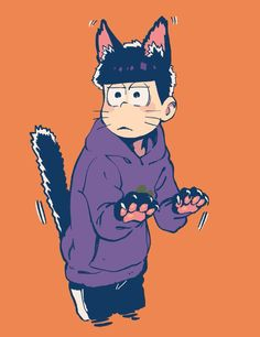 A cat is always wary... (Ichimatsu)