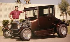 Classic Motors, Classic Cars, Car Man Cave, Traditional Hot Rod, T Bucket, Old Trains, Old Fords, Kustom Kulture, Pedal Cars