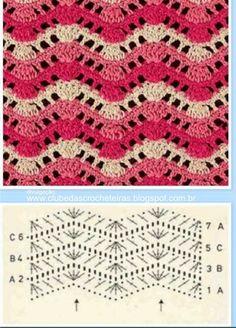 20 esquemas de puntos crochet