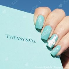 Tiffany nails - one of my goals is to do my nails like this
