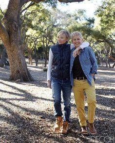 Portia and Ellen at Home in Santa Monica.