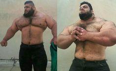 Meet the real life Hulk, Sajad Gharibi, an Iranian power-lifter