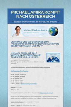 Michael Amira kommt nach Österreich vom  30.9. - 6.10.2103