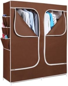 f2b96ad54dc EI Carbon Steel Collapsible Wardrobe(Finish Color - Brown) Collapsible  Wardrobe