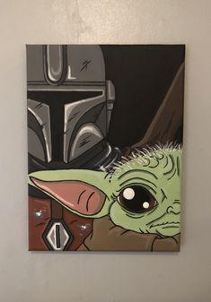 Easy Canvas Art, Simple Canvas Paintings, Small Canvas Art, Mini Canvas Art, Acrylic Painting Canvas, Star Wars Painting, Posca Art, Cool Art Drawings, Star Wars Art