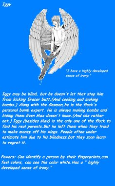 Maximum Ride- Iggy by ~GoldenRose101 he is my favorite