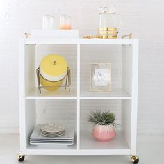 """Simple + sweet, we're obsessed with this #DIY IKEA hack bar cart by @sugarandcloth! (: Jared Smith)"""