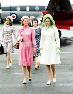 Princess Grace with British Princess Anne.    Fab outfits!