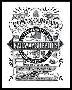 Woodcut advertising 1882 -- Post & Company | Sheaff : ephemera