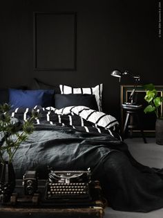 black bedroom design bedroom decor bedroom decoration small bedroom idea lamp with plant wall accent nighslee mattress