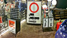 Old traffic signs upcycled in super cool furniture pieces by Carmina Campus.