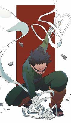 Rock Lee by Naruto Shippuden Sasuke, Anime Naruto, Fan Art Naruto, Manga Anime, Boruto, Shikamaru, Hinata Hyuga, Naruto Wallpaper, Wallpaper Naruto Shippuden