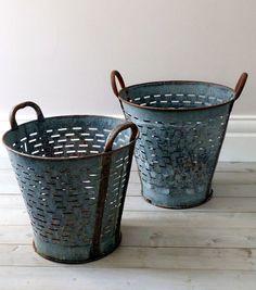 Vintage Industrial Vineyard / Grape Baskets.