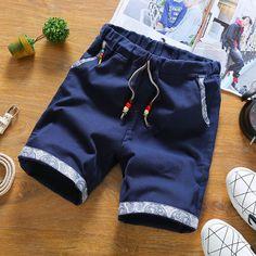 New Summer Style Men Linen Shorts Men Casual Slim Fit Straight Boardshorts Beach Brand Shorts Mens Shorts