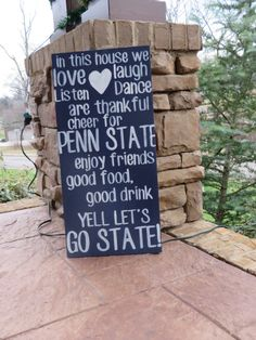 Handpainted wood College Team sign -  Penn state on Etsy, $75.00