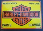Harley Davidson Motorcycles Parts Service porcelain sign Servi-Cars Milwaukee