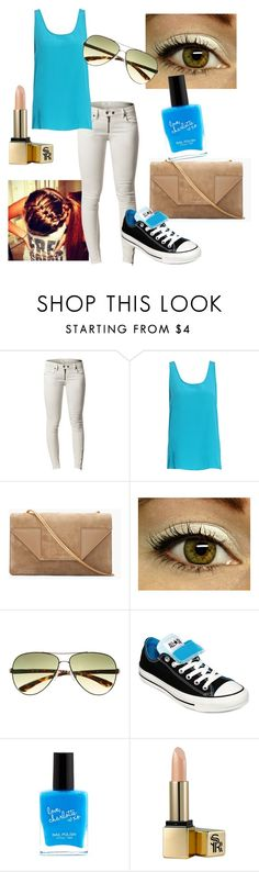 """Pool Blue Summer Outfit"" by equestriangirl123 ❤ liked on Polyvore featuring Issue 1.3, Yves Saint Laurent, Witchery, Converse, Charlotte Russe and Sunday Riley"