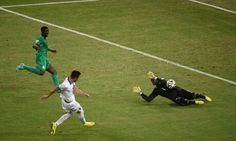 Greece 2 Ivory Coast 1 in June 2014 in Fortaleza. A 42nd minute goal by Andreas Samaris and its 1-0 Greece in Group C #WorldCupFinals