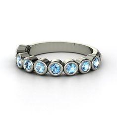 Peridot, Blue Sapphire, Amythest.