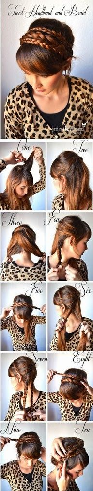 Make twist headband and braid by yourself
