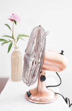 Copper fan - stay cool in more than one sense of the word...