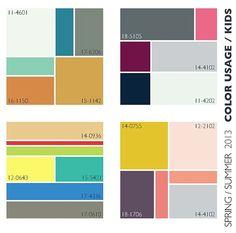 Spring/Summer 2013 Color Trends for Kids Color Trends, Color Combos, Colour Schemes, Summer Kids, Spring Summer, Latest Mens Fashion, Womens Fashion, Summer Fashion Trends, Color Stories