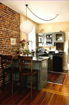 Great use of space in this tiny kitchen.  Small kitchens can be functional with these ideas on this page: http://outintherealworld.com/diy-home-kitchens-tiny-kitchen-decor-remodeling-ideas-love/