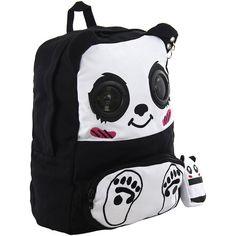 Alternative bags, speaker bag, school backpacks, emo bags UK ($45) ❤ liked on Polyvore