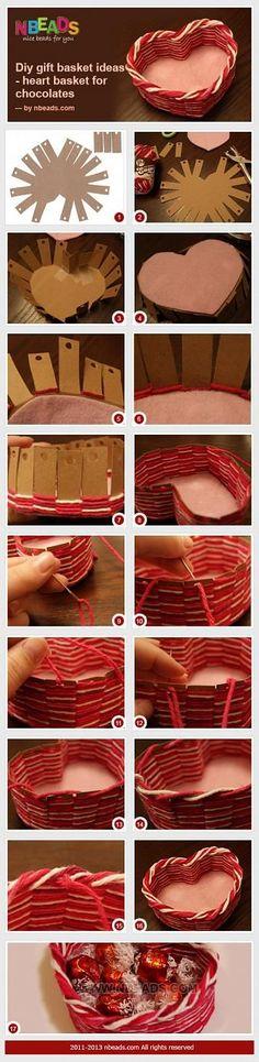 DIY Gift Basket Ideas - Heart Basket for Chocolates – Nbeads