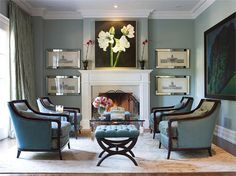 fireplace focal point with pictures
