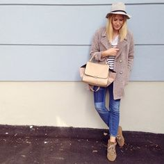 tifmys - Zara coat, H&M shirt and denim, Isabel Marant Bobby sneakers, No Name bag and hat.: