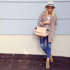 tifmys - Zara coat, H&M shirt and denim, Isabel Marant Bobby sneakers, No Name bag and hat.: