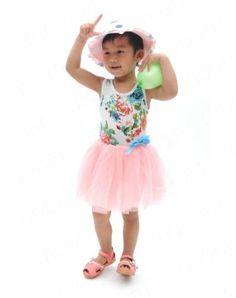Kid Girl Toddler Cotton Chiffon Ball Gown Tulle Princess Dress Sleeveless 0 3T | eBay